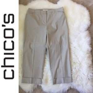 Chico's Sz 1.5 Cropped Trousers
